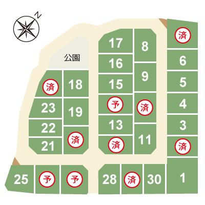 区画図ドリームシティ蔵波